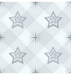 Seamless pattern stars and checkered vector