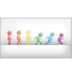 Abstract humans in movement vector