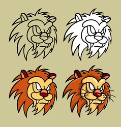 Lion Head Character vector image