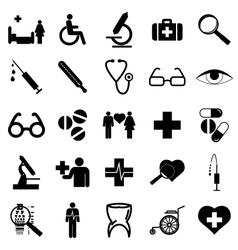 Collection flat icons medicine symbols vector