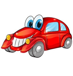 Happy car cartoon vector