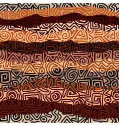 Ethnic strikes pattern in blrown colors vector image