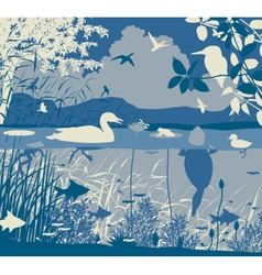 Freshwater wildlife vector image