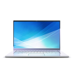 netbook laptop vector image