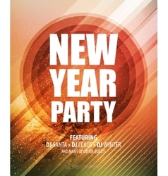 New year and christmas party poster template vector