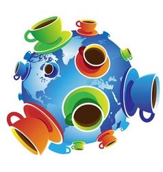 Coffee World isolated vector image