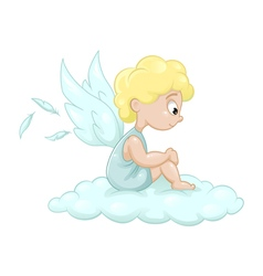 Angel on the cloud vector image