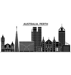 Australia perth architecture city skyline vector