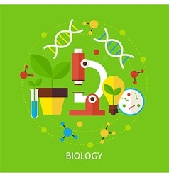 Biology science flat concept vector