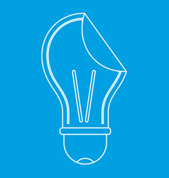 bulb sticker icon outline vector image vector image