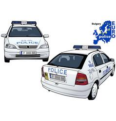 Bulgary police car vector