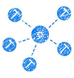 Cardano mining network icon grunge watermark vector