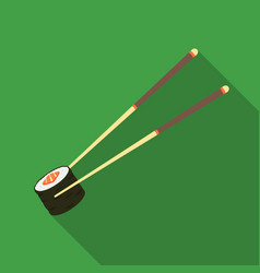 Chopsticks icon in flate style isolated on white vector