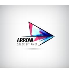 Colorful arrow logo icon vector