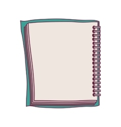 Colorful notebook spiral with sheets vector