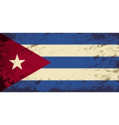 Cuban flag grunge background vector