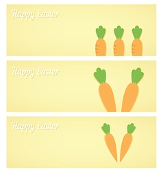 Easter carrot banners vector image vector image