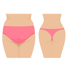 Female fat and thin ass before and after vector