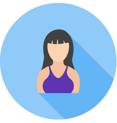 Girl with bangs vector