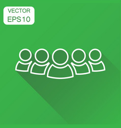 Group of people icon business concept persons in vector