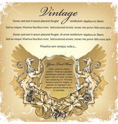 grunge emblem vector image vector image