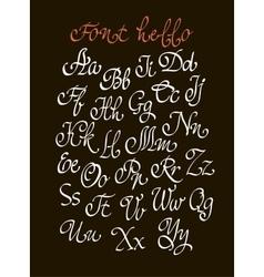 handwritten calligraphic font vector image