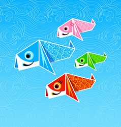 Koinobori origami vector