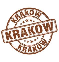 Krakow stamp vector