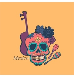 Mexican label and emblem vector image