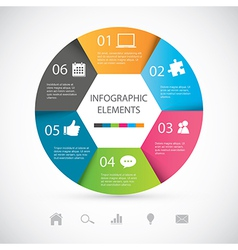 Modern Infographic vector image vector image