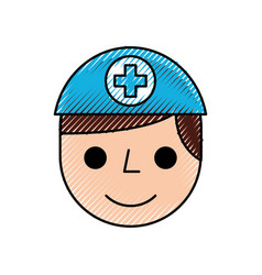 Nurse avatar staff clinical people profesional vector