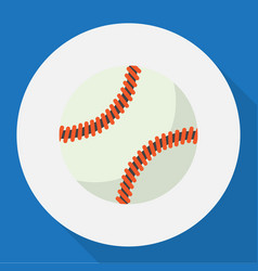 Of exercise symbol on baseball vector