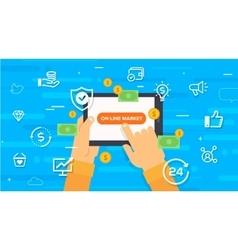 online market Concept vector image vector image