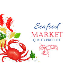 seafood healthy food cooking concept vector image vector image