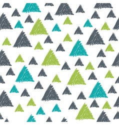 Seamless pattern with hand drawn green and grey vector