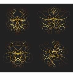 Set of calligraphic swirls vector
