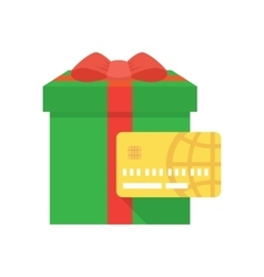 Shopping gift card icon vector