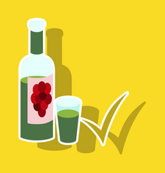 Sticker wine bottle it can serve as a layout for vector