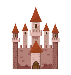 tale castle icon cartoon style vector image vector image