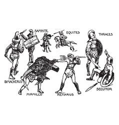 The gladiators vintage vector