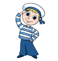 The little sailor vector image vector image