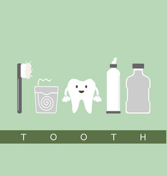 tooth best friend vector image vector image