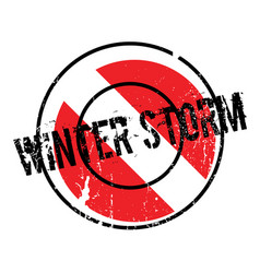 Winter storm rubber stamp vector