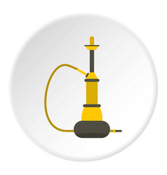 yellow hookah icon circle vector image