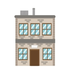 Single brick building icon vector