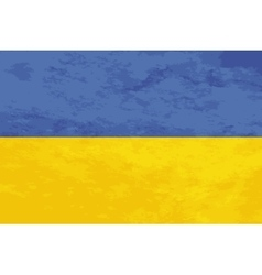 True proportions ukraine flag with texture vector