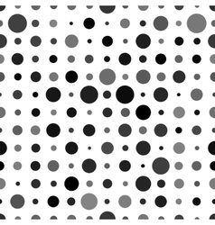 Abstract background with black circles isolated on vector image
