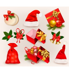 Christmas icons and objects vector