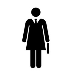 Businesswoman icon pictogram symbol vector
