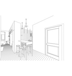 interior drawing vector image